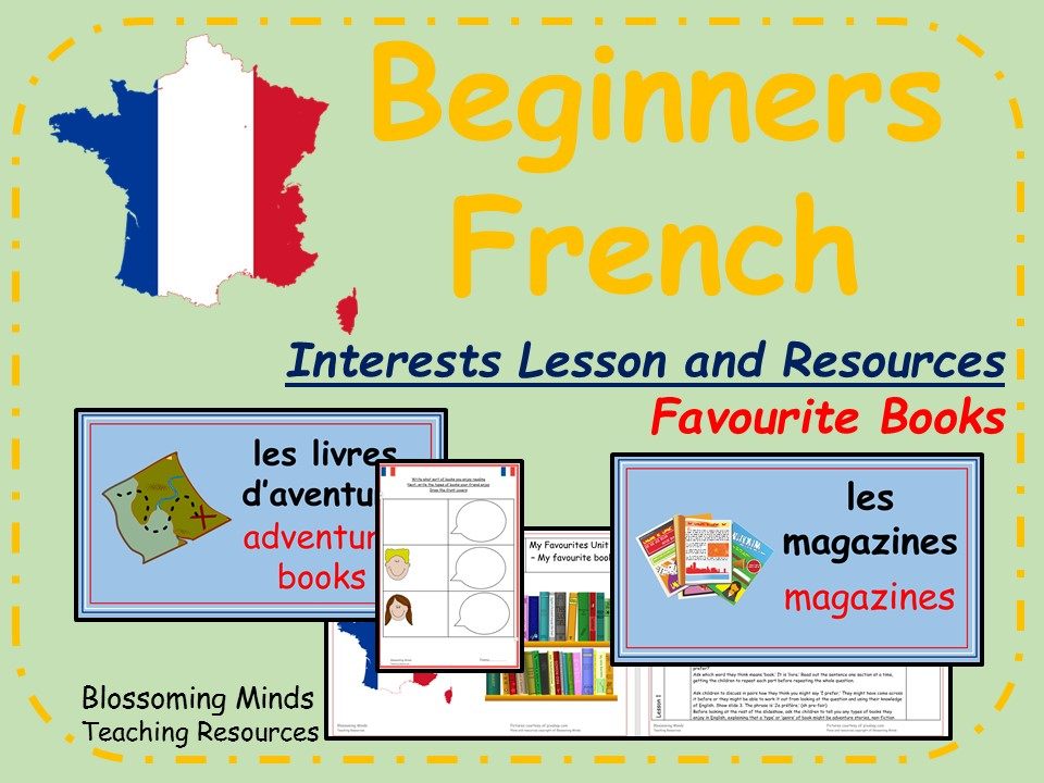 French lesson and resources - Favourite books - KS2