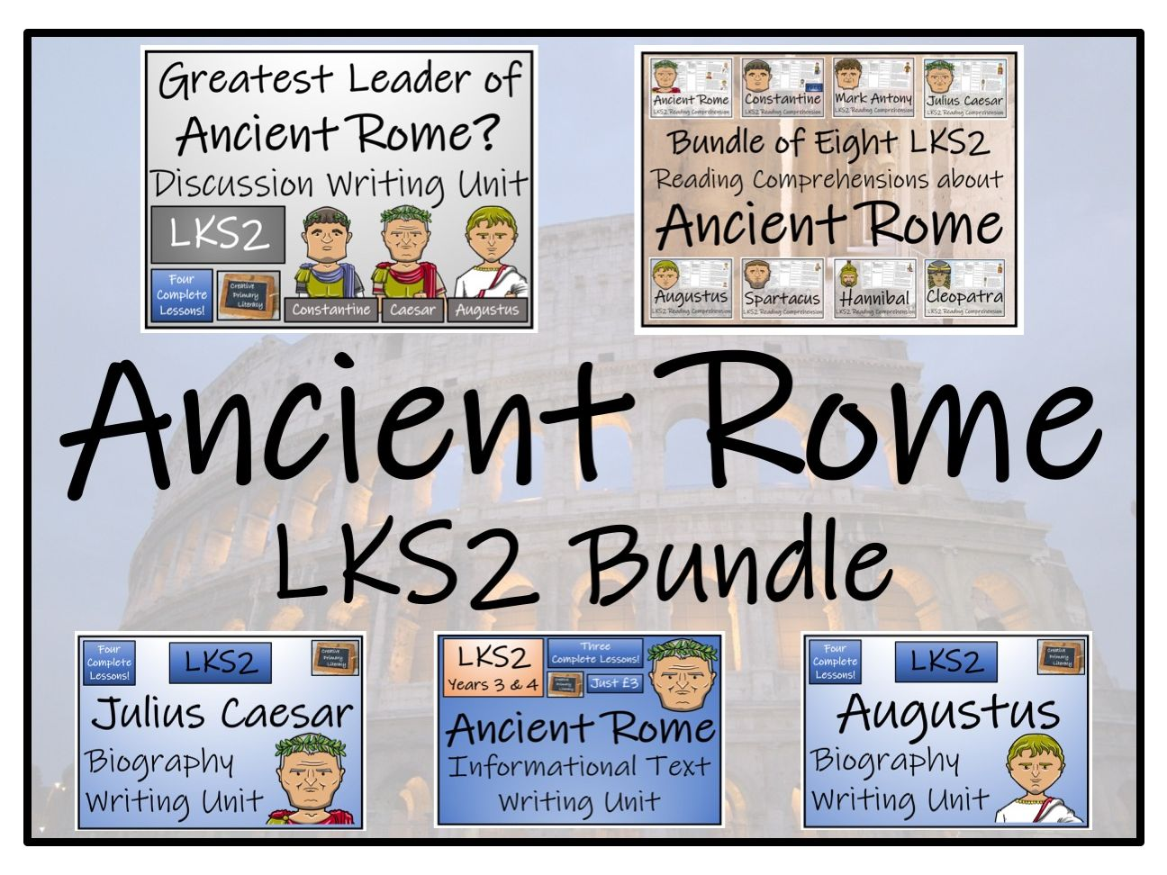 LKS2 Ancient Rome Reading Comprehension & Writing Bundle