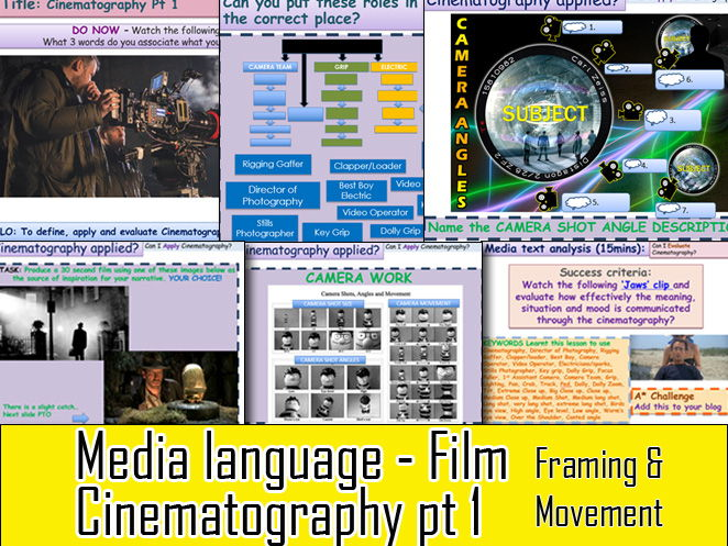 Media Language Cinematography Part 1