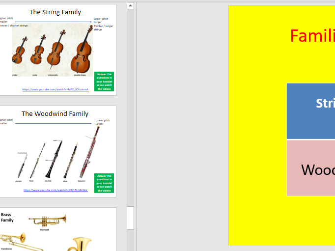 Key Stage 3 Music - SOW Instrument of the Orch