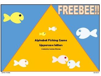 Alphabet Fishing Game - Uppercase Letters