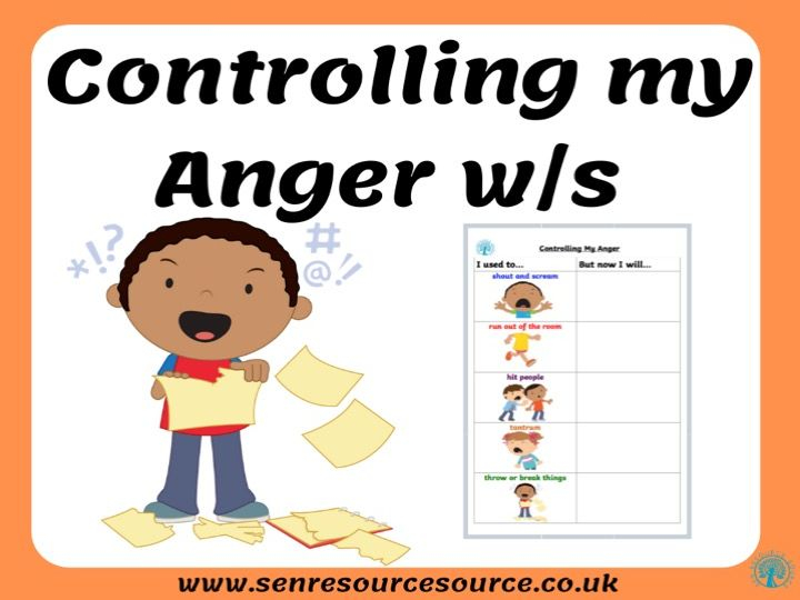 Controlling my Anger worksheet