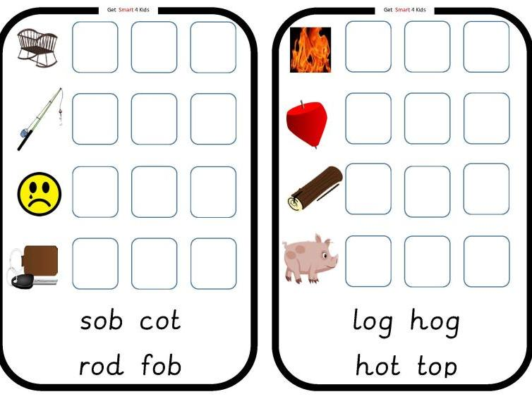 Read and Write cvc Words (Medial Vowel o)