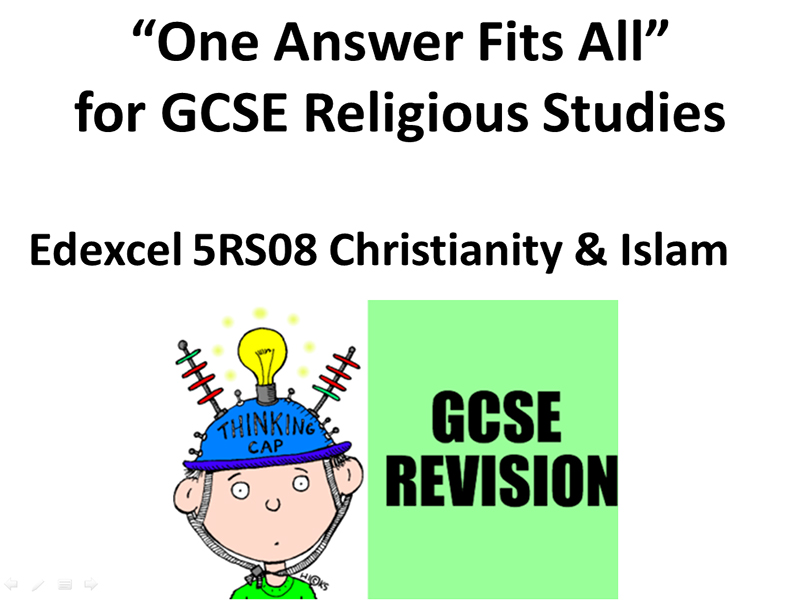 Edexcel Religion and Society Revision - One Answer Fits All (Christianity and Islam)