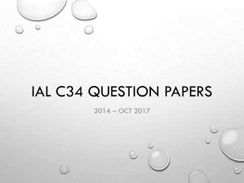 IAL C34 Math Question Papers (2014-Jan 2018) - without writing space