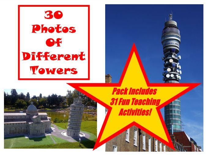 30 Tower Photos PowerPoint Presentation + 31 Teaching Activity Teacher Guide For Using These Cards