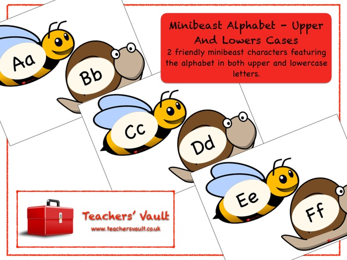 Minibeast Alphabet Display - Upper And Lowers Cases
