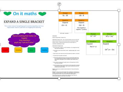 Expanding a single bracket Treasure Hunt/Loop Cards