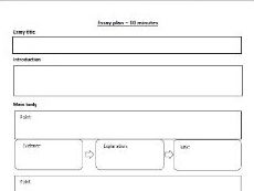 A-level French essay writing support sheets