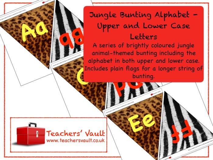 Jungle Bunting  Alphabet Display