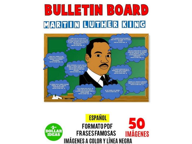 MARTIN LUTHER KING JR BULLETIN BOARD   PIZARÓN   FRASES   SPANISH
