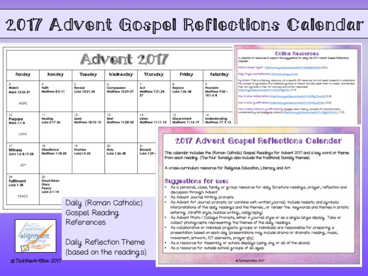 2017 Advent Gospel Reflection Calendar