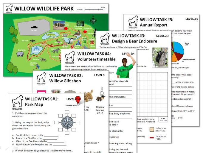 Wildlife Park  Maths Activity Pack