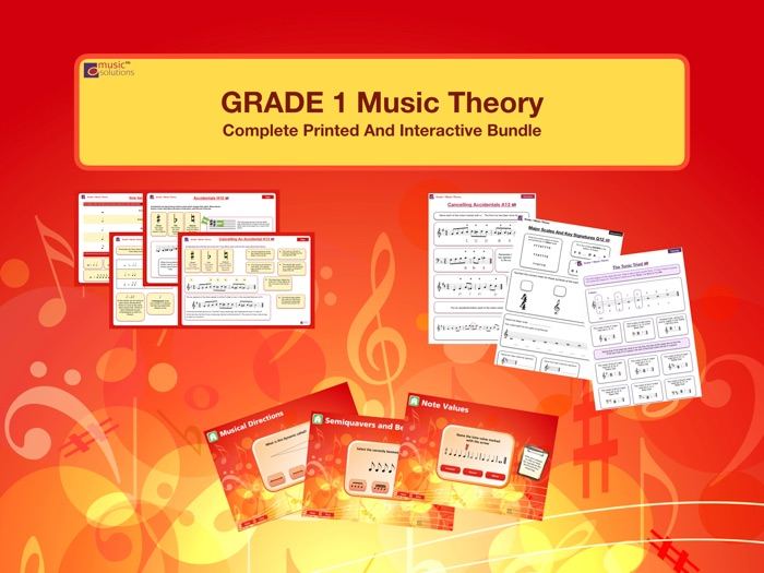 Grade 1 Music Theory Printable And Interactive Bundle