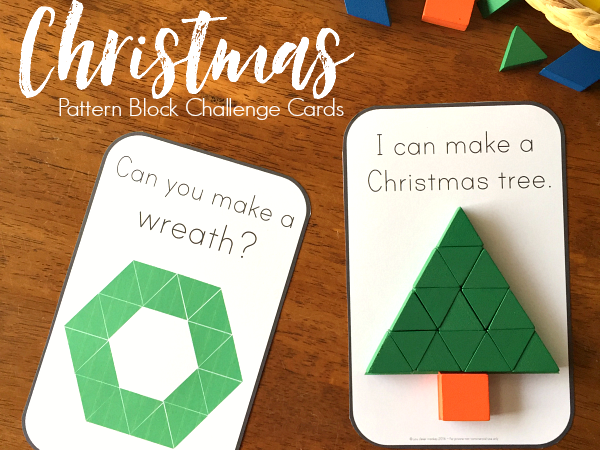 2D Shape Christmas Challenge Cards