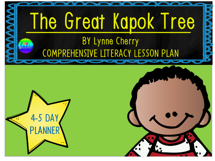 The Great Kapok Tree by Lynne Cherry 4-5 Day Lesson Plan and Activities