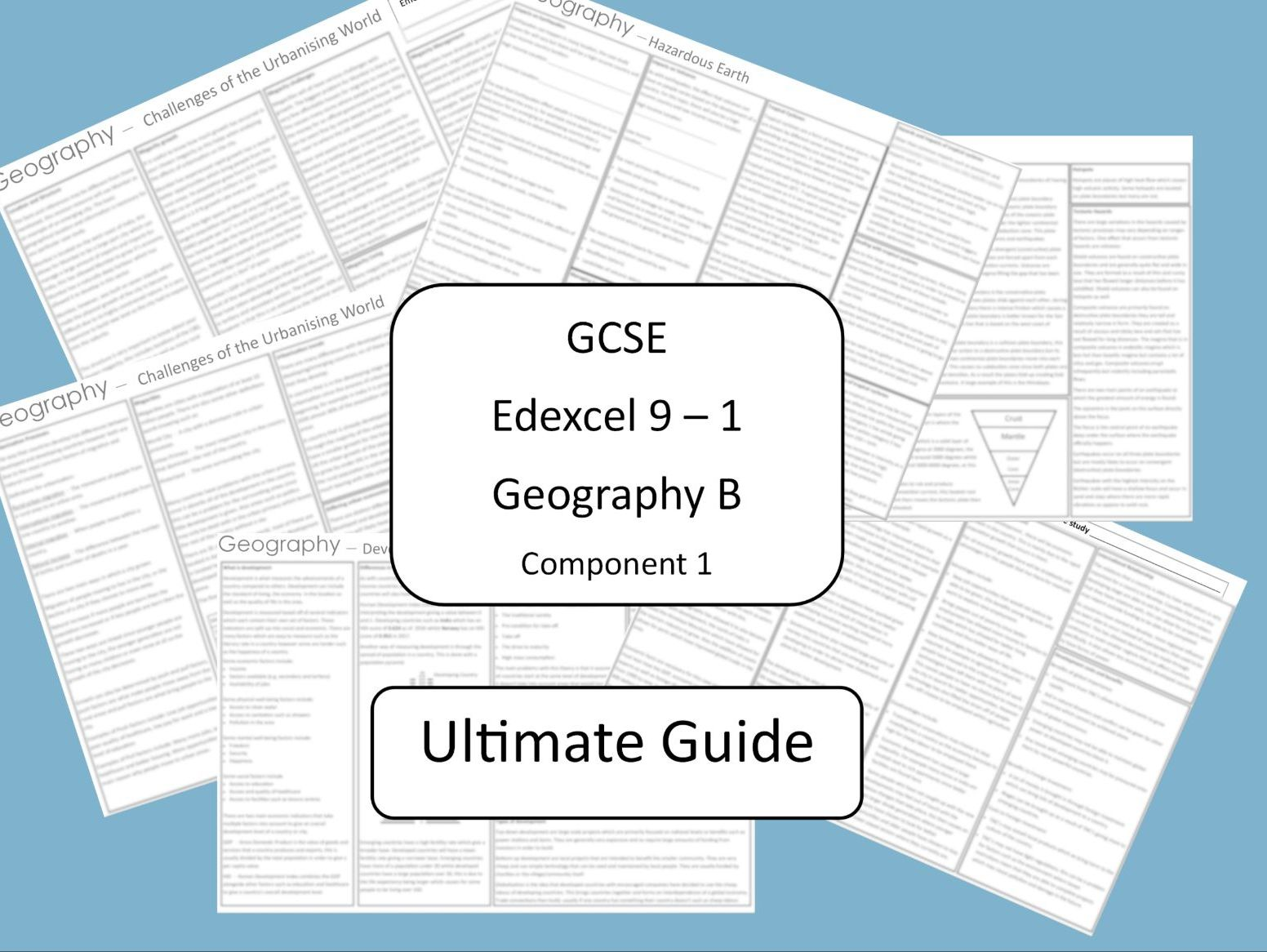 Ultimate GCSE Geography B Edexcel 9 - 1 revision guide (Component 1)