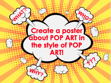 Pop Art Poster Lesson- Online learning