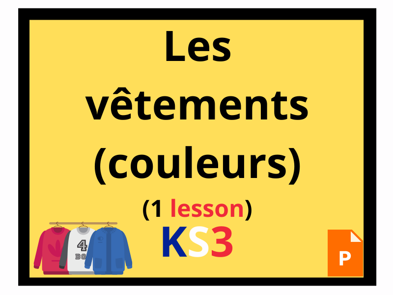 French KS3 clothes colours