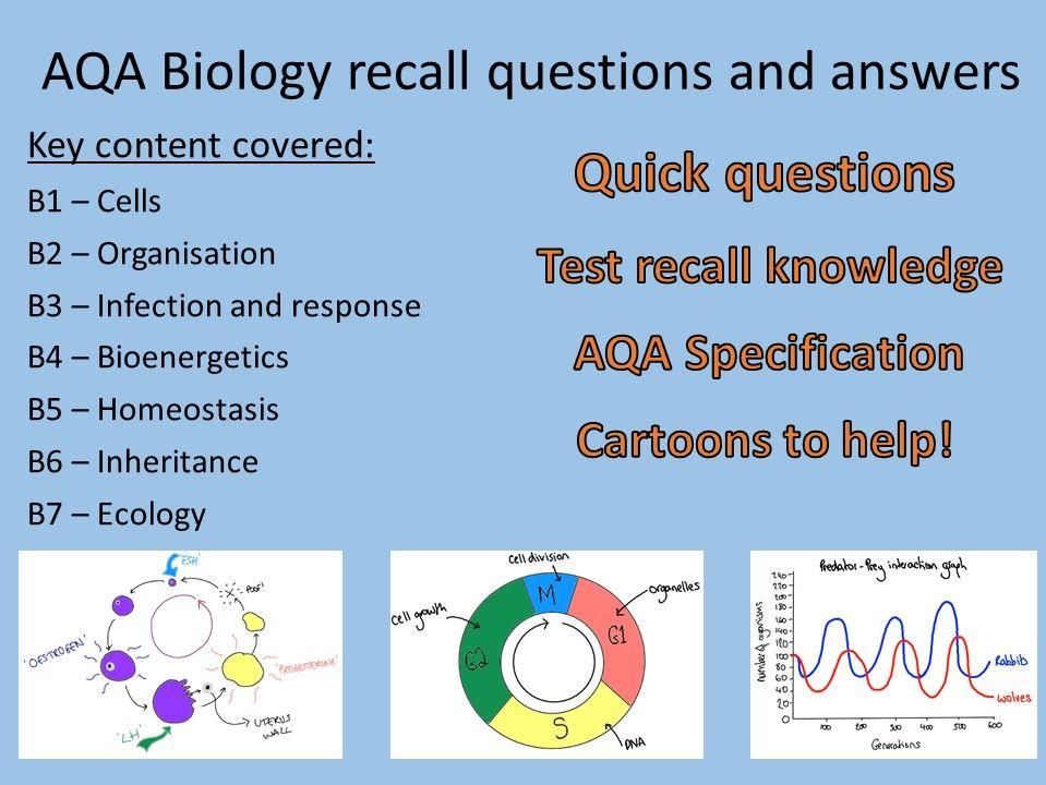 AQA Biology recall Qs bundle