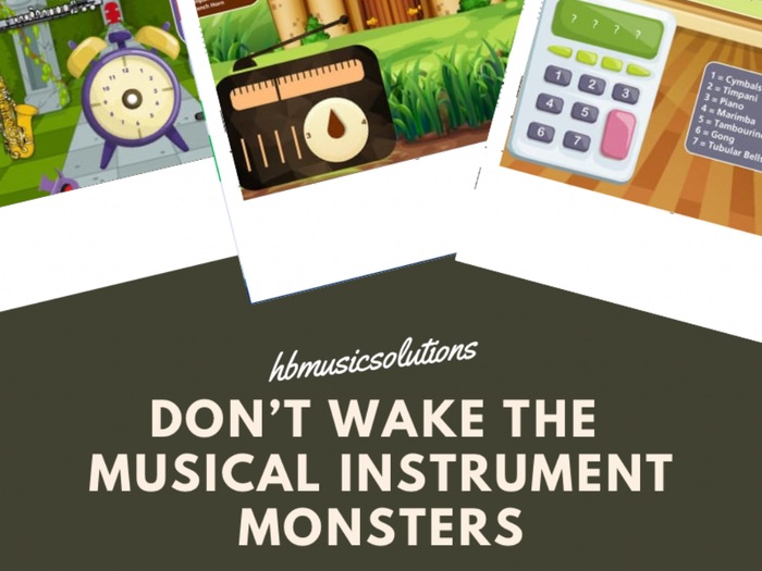 Don't Wake the Musical Instrument Monsters Digital Interactive Game