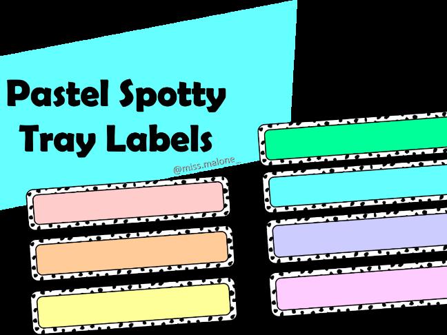 Pastel Spotty Tray Labels