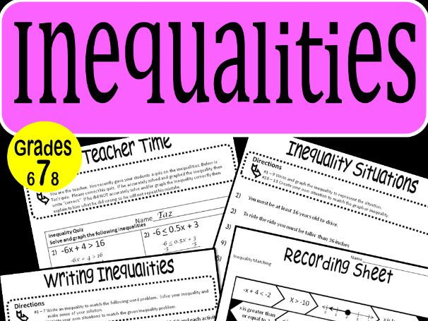 Inequalities Math Stations