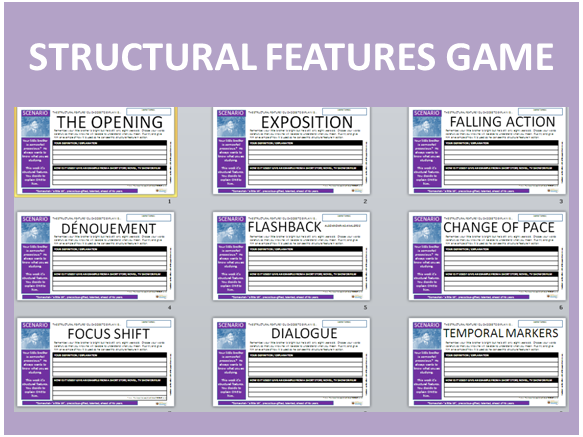 GCSE English Language 9-1: Structural Features Game (with Lesson Plan)