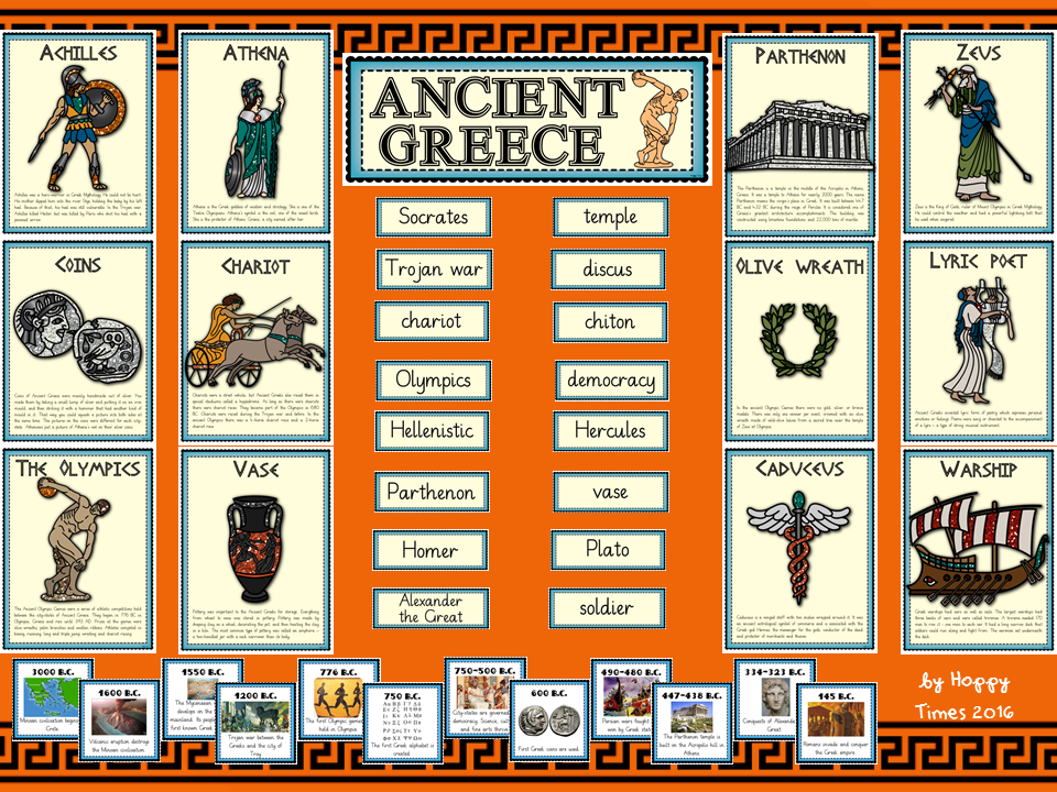 ancient greece display bundle  greek posters  timeline