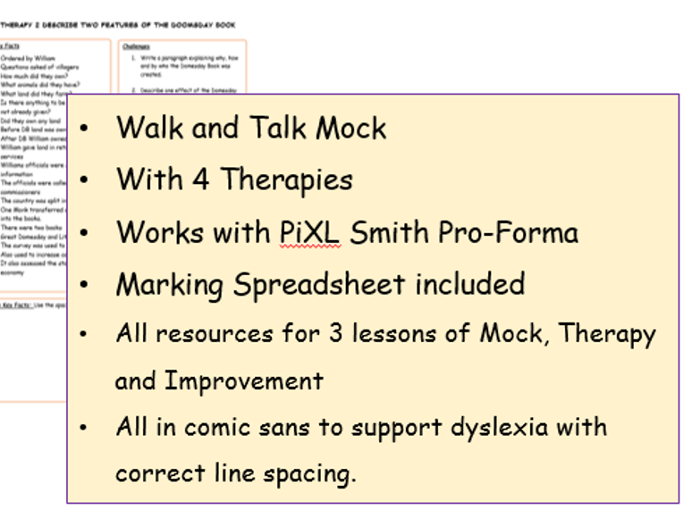 Edexcel CRIME and ANGLO SAXON 1-9 Walk and Talk Mocks with Therapy.