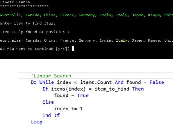 Linear Search Algorithm - Theory and Programming