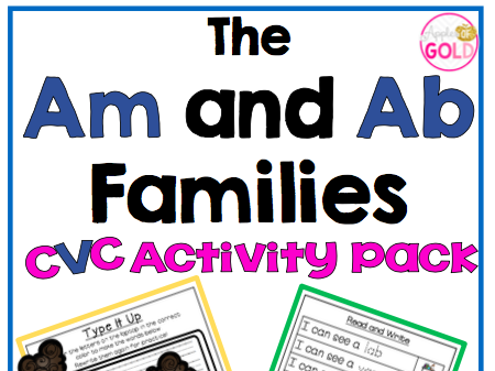 The Am and Ab Families - CVC Activity Pack