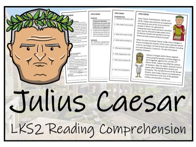 LKS2 History - Julius Caesar Reading Comprehension Activity