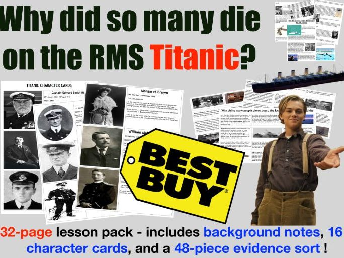 RMS Titanic - 32 page lesson pack
