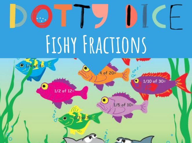 Numeracy Board Game - Fishy Fractions - Early Additive -