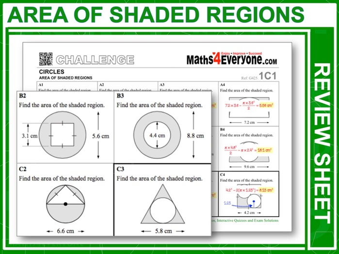Area of Shaded Regions (GCSE Revision)