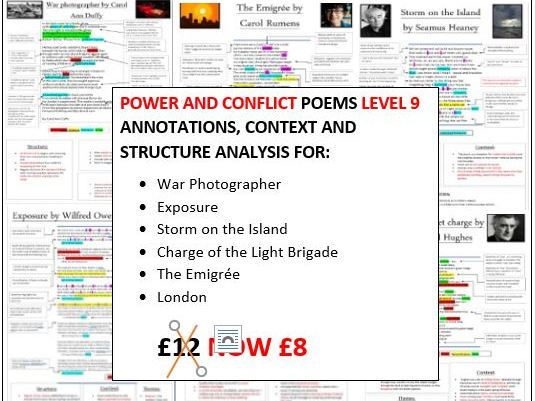 LEVEL 9 Power and conflict annotations, context and structure sheets