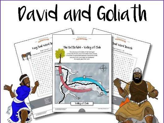 David & Goliath Bible Activity Book