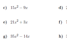 Factorising into single brackets worksheets  (with answers)