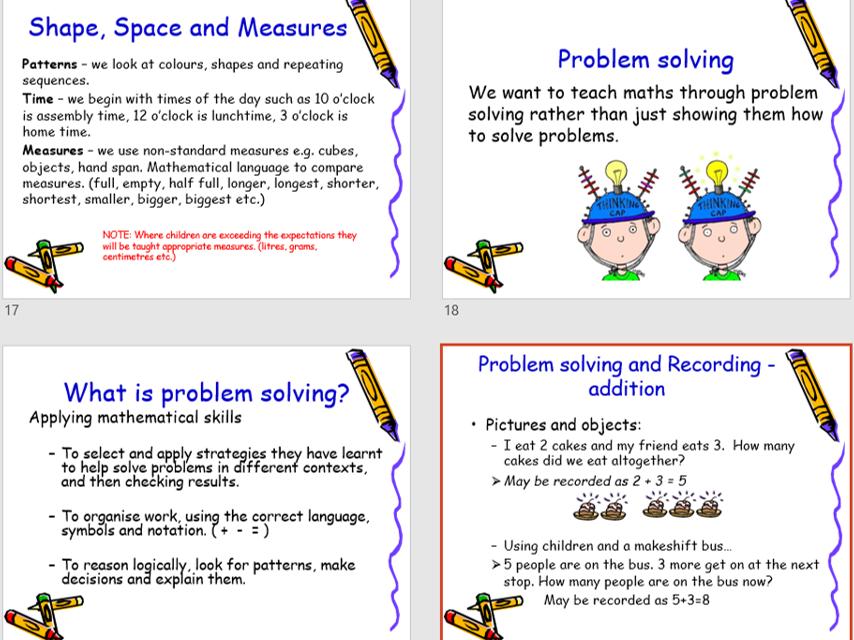 Reception Parent Impact Presentation - Maths in EYFS