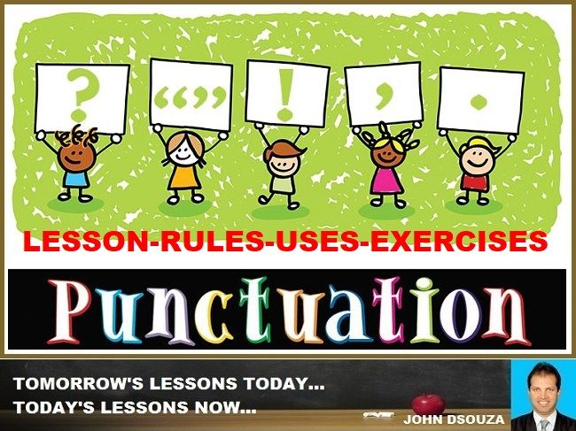 PUNCTUATION: LESSON AND RESOURCES