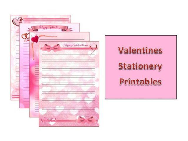 Valentines Stationery Printables