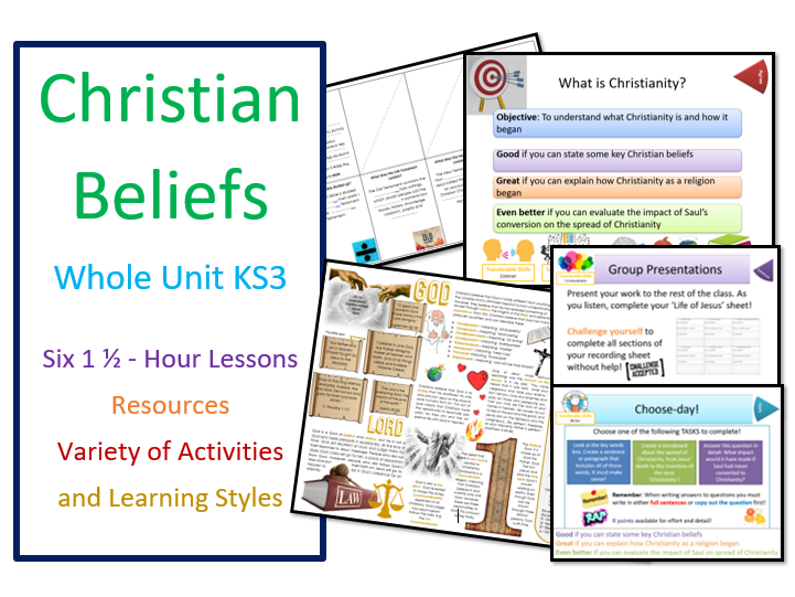 Christian Beliefs: Whole Unit of Lessons for KS3