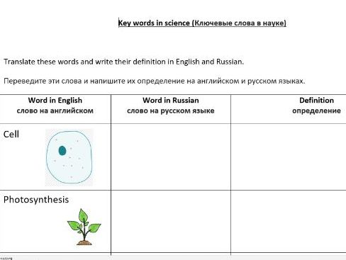 EAL Literacy help - Editable non subject specific