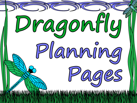 Dragonfly Themed Teacher Planning Pages