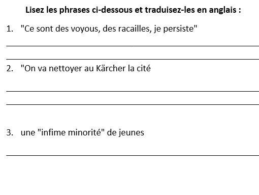 Le langage incendiaire de Sarkozy pour décrire les émeutes de 2005