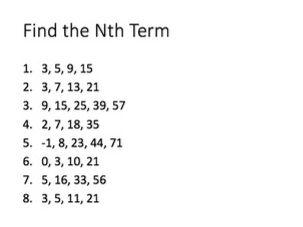 Quadratic Sequences Lesson Series