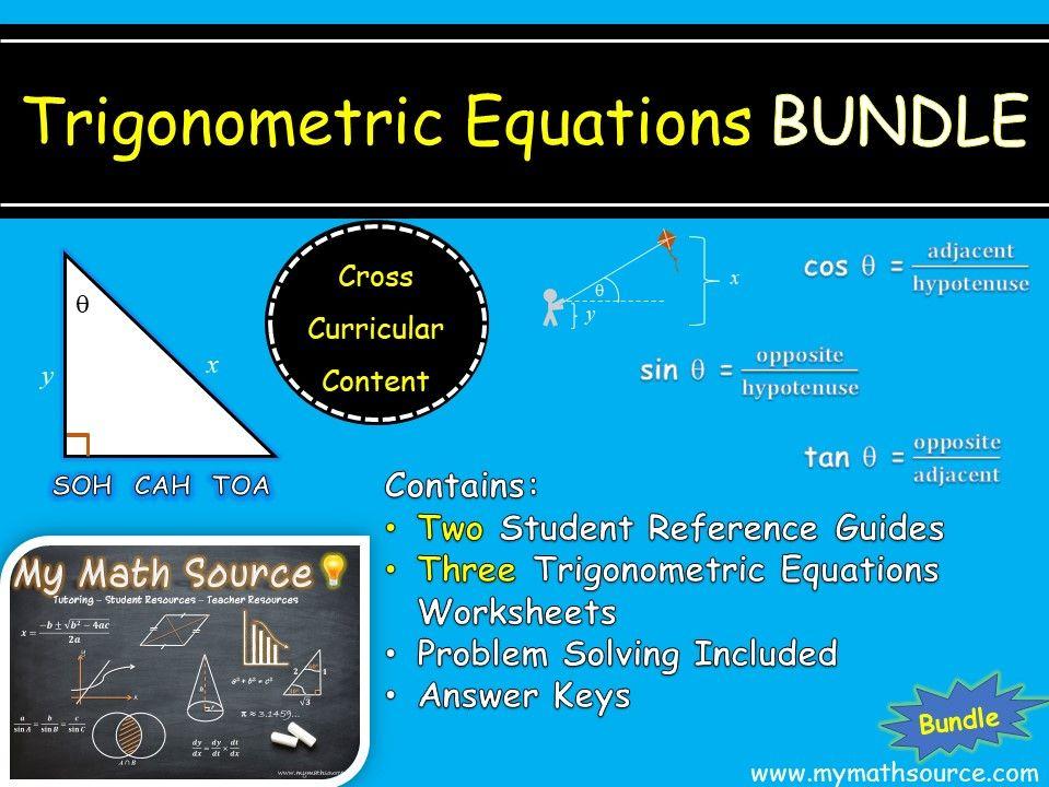 Solving Trigonometric Equations Bundle