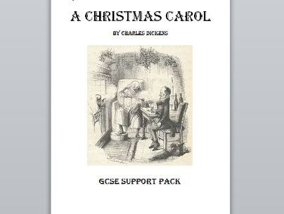A Christmas Carol GCSE support pack