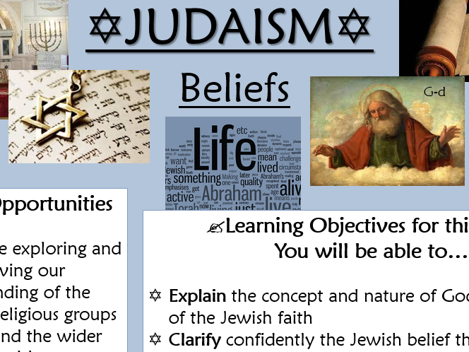RE GCSE AQA Judaism Beliefs - L1 Intro and the Nature of God part 1